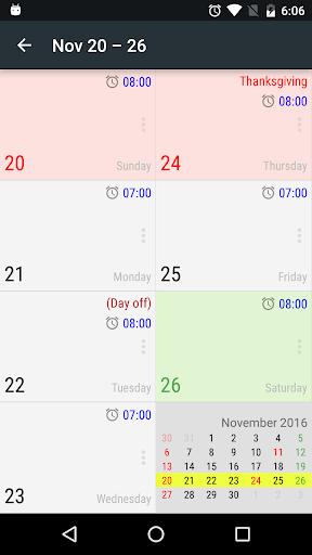 New Alarm: Clock with Holidays 4 تصوير الشاشة