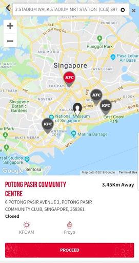 KFC Singapore screenshot 2
