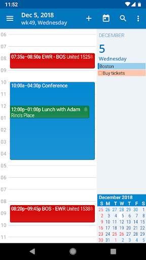 aCalendar - a calendar app for Android screenshot 2