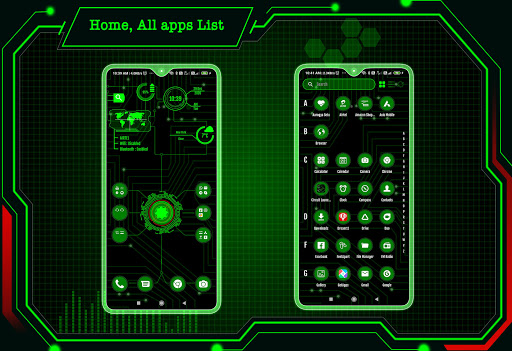 Circuit Launcher 2021 App lock, Hitech Wallpaper 3 تصوير الشاشة