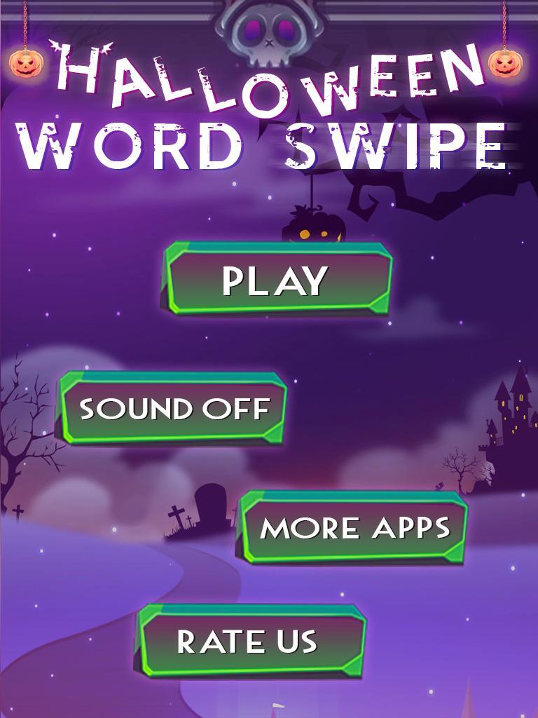 Halloween Word Swipe screenshot 1