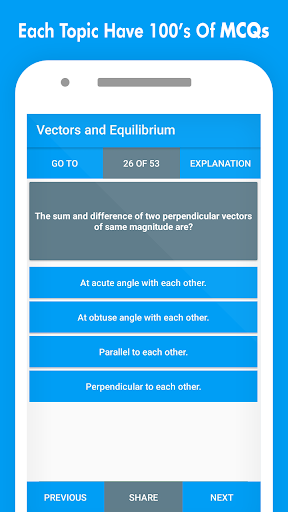 Physics MCQs with Answer and Explanations screenshot 3