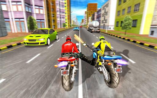 Bike Attack Race : Highway Tricky Stunt Rider screenshot 1