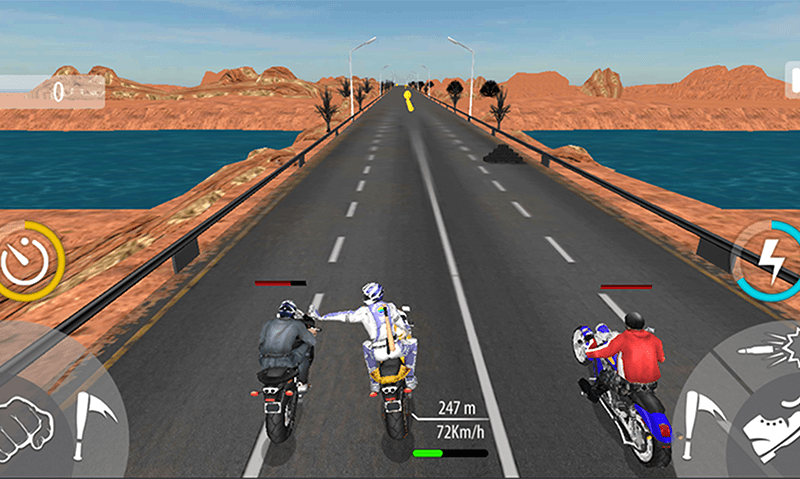 Bike Attack Race Highway Tricky Stunt Rider screenshot 4