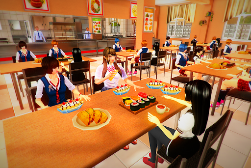 real High School Girl Simulator games स्क्रीनशॉट 1