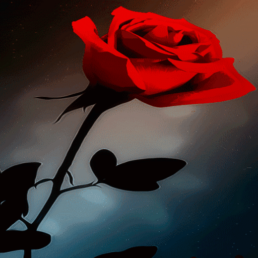 Abstract Red Rose LWP icon