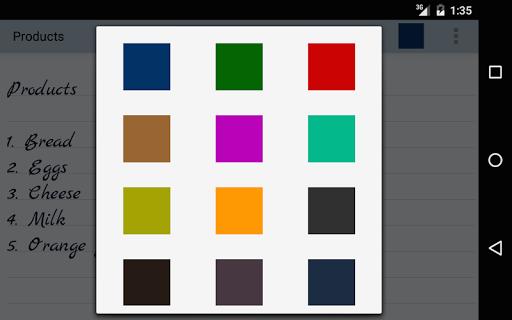 اللون ملاحظات 21 تصوير الشاشة
