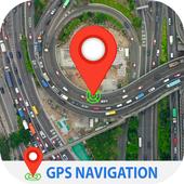 जीपीएस नेविगेशन लाइव उपग्रह दृश्य मानचित्र आइकन