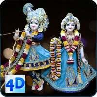 4D Radha Krishna Murti Darshan Live Wallpaper on 9Apps