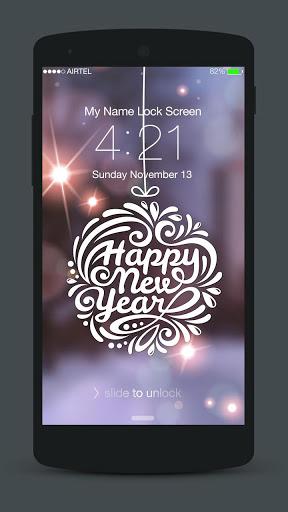 New Year Neon 2020 Lock Screen screenshot 3