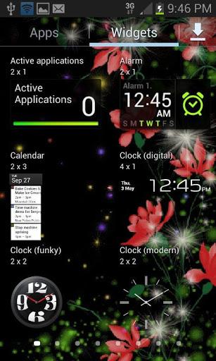 Red Flowers Magic LWP screenshot 3