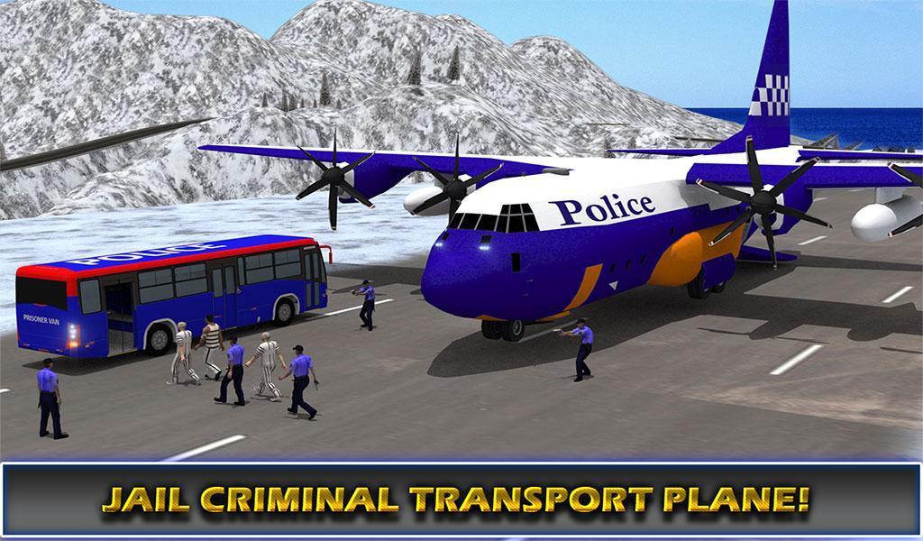 US Police Airplane Cop Dog Transporter Kids Games screenshot 21