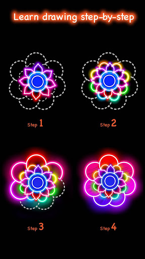 Learn To Draw Glow Flower скриншот 3