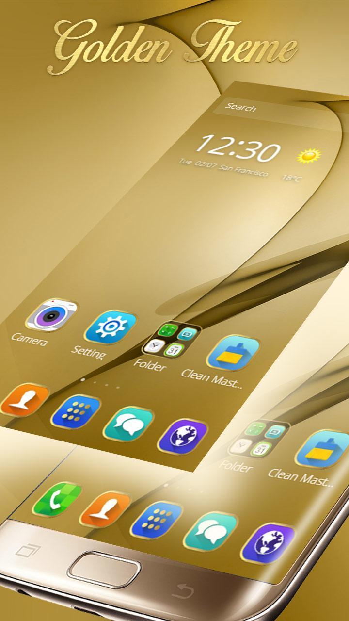 Gold Theme for Galaxy S8 Plus 1 تصوير الشاشة
