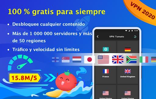 VPN Tomato gratis | Veloz proxy VPN hotspot gratis screenshot 1