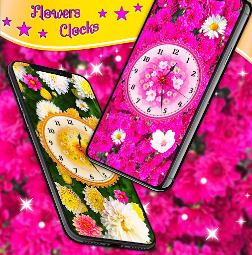 Flower Blossoms Clock 🌺 Spring 4K Live Wallpaper screenshot 7