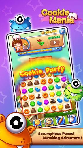 Cookie Mania - Match-3 Sweet Game 9 تصوير الشاشة