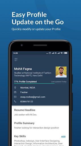 Naukri.com Job Search App: Search jobs on the go! 6 تصوير الشاشة