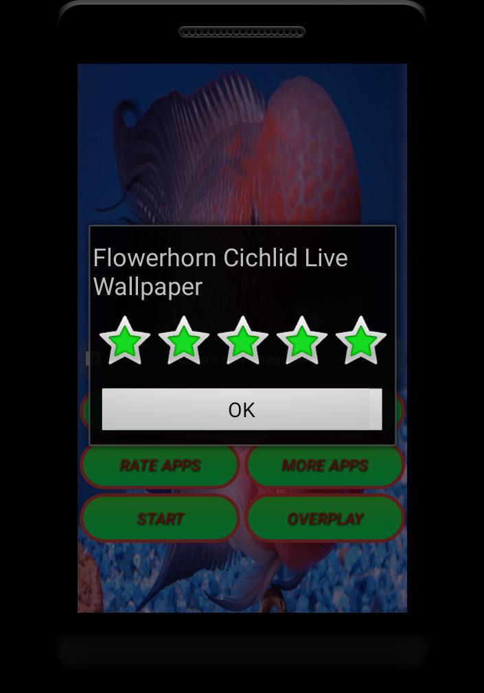 Flowerhorn Fish Special Live Wallpaper 3 تصوير الشاشة