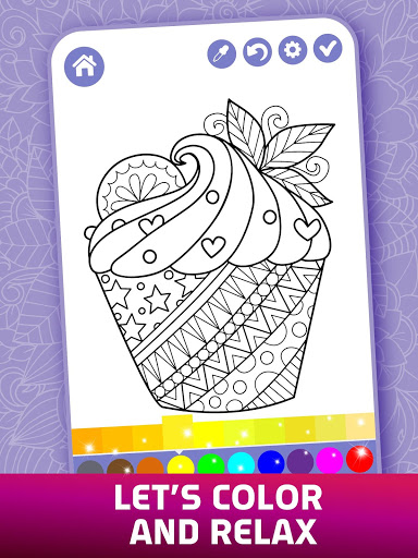 Relaxing Adult Coloring Book 4 تصوير الشاشة