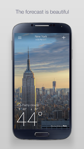 Yahoo Weather 1 تصوير الشاشة