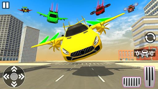 Real Light Flying Car Racing Simulator Games 2020 screenshot 2