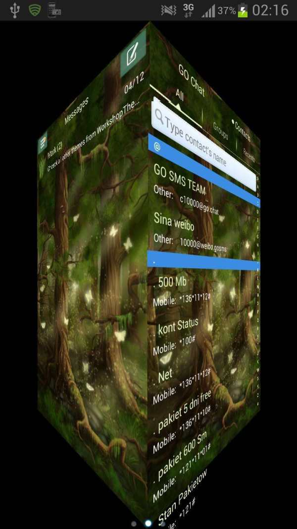 Forest Theme GO SMS Pro screenshot 3