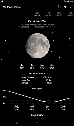 My Moon Phase - Lunar Calendar & Full Moon Phases screenshot 4