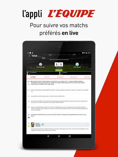 L'Équipe - Sport en direct : foot, tennis, rugby.. screenshot 13