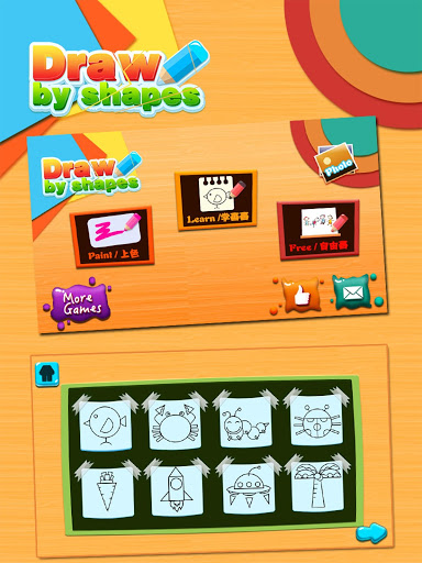 Draw by shape - easy drawing game for kids screenshot 15