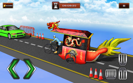 Bicycle Rickshaw Simulator 2019 : Taxi Game screenshot 4