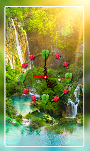 Nature Clock Live wallpaper 3 تصوير الشاشة