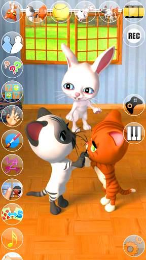 Talking 3 Friends Cats & Bunny screenshot 1