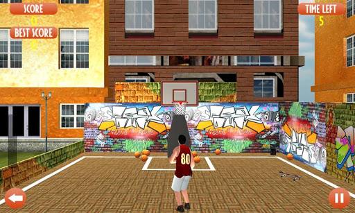 Flick Basketball shooting arcade game - Dunk game 4 تصوير الشاشة
