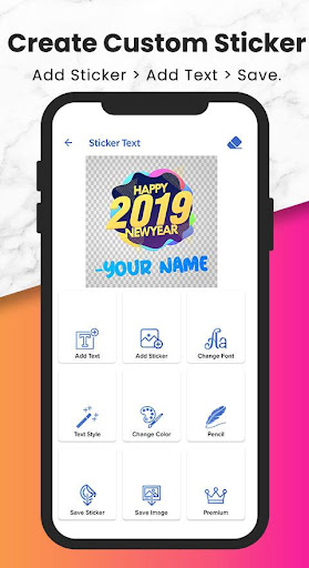 Fancy Text   Sticker Maker (WAStickerApps) screenshot 4