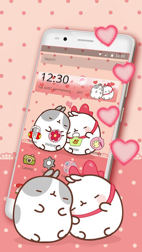 Cute Kitty Love Theme screenshot 1