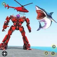 Police Shark Robot Car Transform Simulator on APKTom