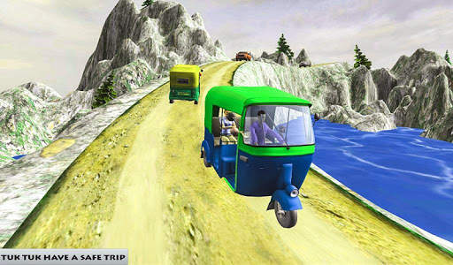 Mountain Auto Tuk Tuk Rickshaw : New Games 2020 screenshot 6