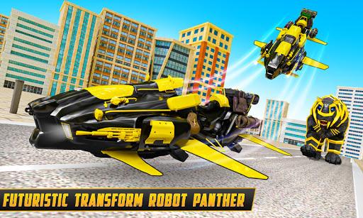 Flying Motobike Robot Transform Panther Robot Game screenshot 1