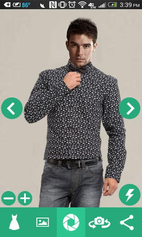Man Shirt Photo Suit 2 تصوير الشاشة