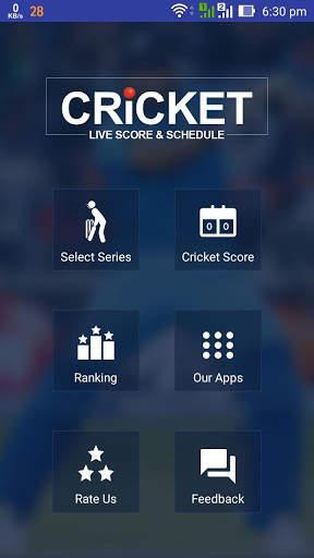 Cricket Live Score & Schedule 1 تصوير الشاشة