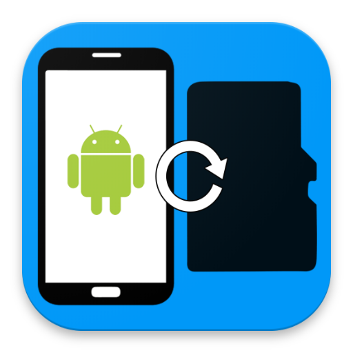 Files to sdcard - Move files and apps to sd card icon