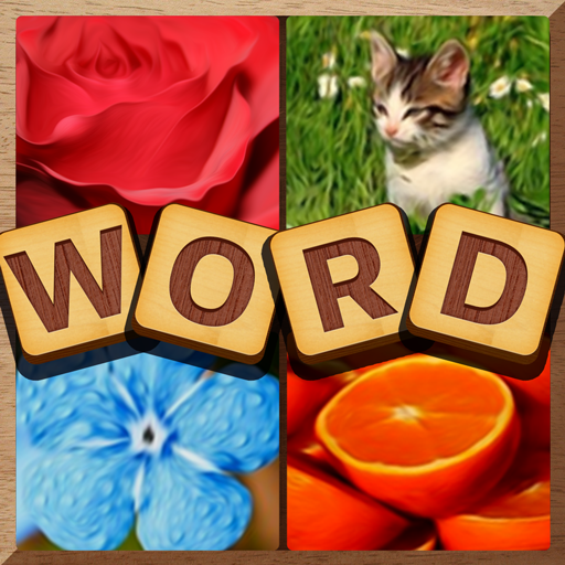 4 Pics Puzzle: Guess 1 Word आइकन