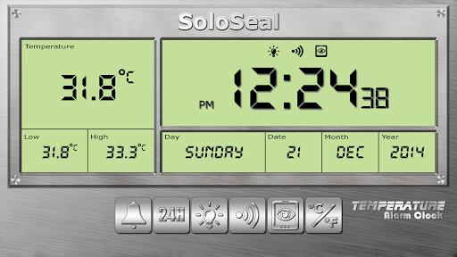 درجة الحرارة منبه 3 تصوير الشاشة