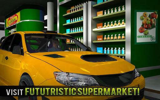 चलाना थ्रू सुपरमार्केट: खरीदारी मॉल कार ड्राइविंग स्क्रीनशॉट 15