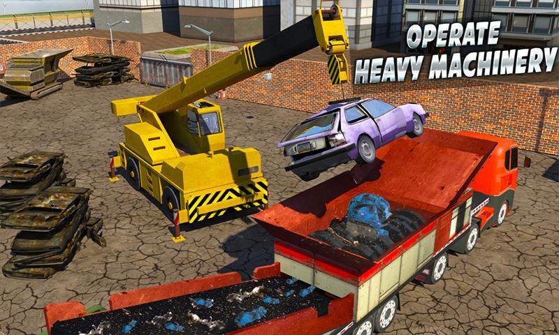 Monster Car Crusher Crane 2019: City Garbage Truck screenshot 1