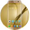 Gold Theme for Galaxy S8 Plus أيقونة