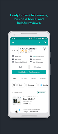 Weedmaps Find Marijuana Cannabis Weed Reviews CBD screenshot 3