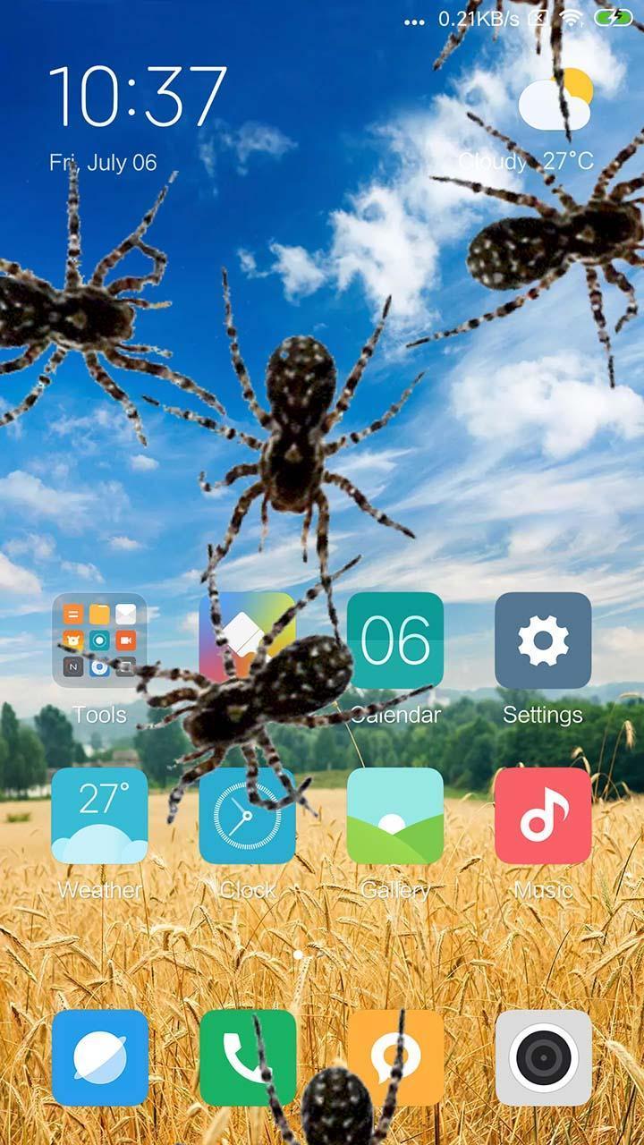 Spider in phone prank 1 تصوير الشاشة