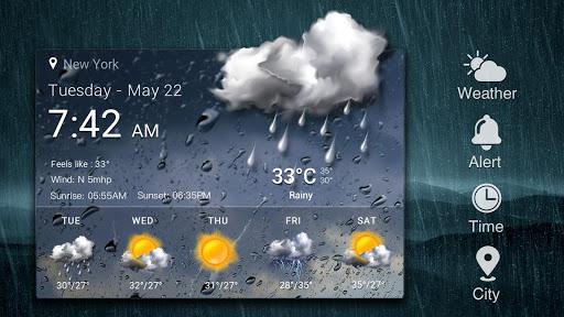 Z Style Weather Widget 16 تصوير الشاشة
